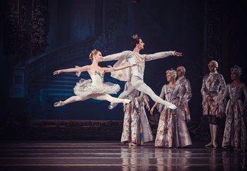 Попелюшка - Оксана Сіра, Принц Фортюне - Геннадій Петровський. Фото О. Орлової.