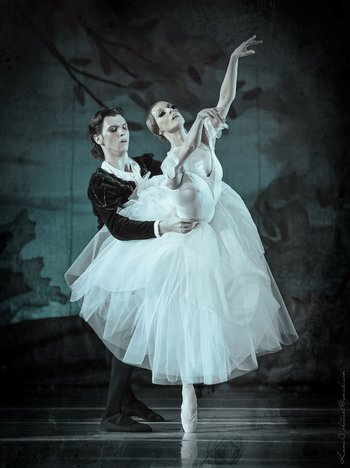 Жізель - Тетяна Голякова, Альберт - Микита Сухоруков. Фото О. Орлової.