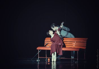 Маргарита - Катерина Діденко, Воланд - Віталій Нетруненко. Фото О. Орлової.