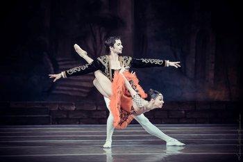 Кітрі – Катерина Кухар, Базиль – Олександр Стоянов. Фото О. Орлової.