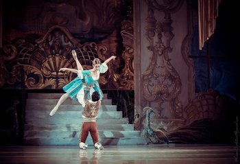 Сюзанна - Наталя Лазебнікова, Фігаро - Олександр Стоянов. Фото О. Орлової.